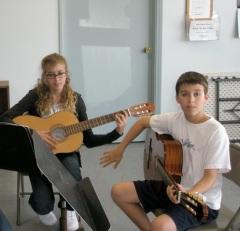 Christa Nick Practicing Guitar in Old Studio