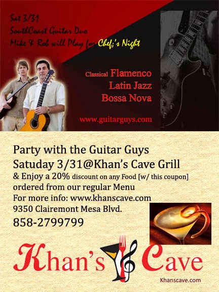 Live Guitar this Saturday March 31