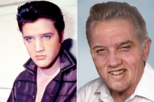 Elvis' age progressed to 78 years old...